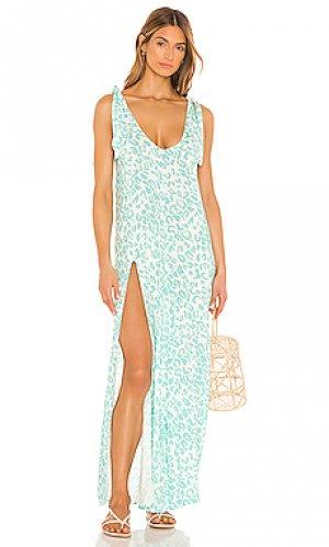 Макси платье lily Beach Bunny. Цвет: зеленый
