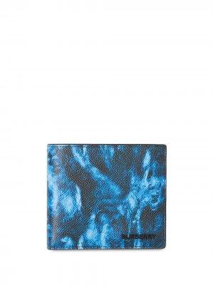 Бумажник с принтом Burberry. Цвет: черный