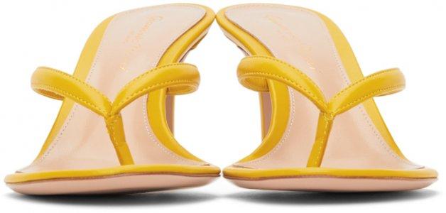 Yellow Calypso 70 Heeled Sandals Gianvito Rossi. Цвет: mimosa