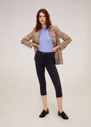 Прямые хлопковые брюки - Nina6-h Mango. Цвет: темно-синий