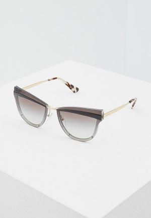 Очки солнцезащитные Prada PR 12US KUI0A7. Цвет: серый