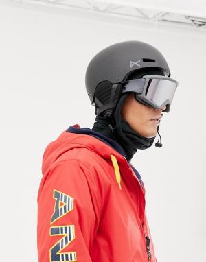 Черный шлем горнолыжника Raider Anon. Цвет: черный