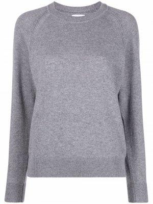 Кашемировый пуловер с длинными рукавами Barrie. Цвет: серый