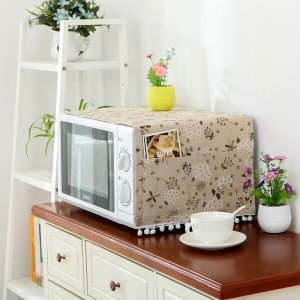 Пылезащитный чехол для микроволновой печи с цветочным принтом SHEIN. Цвет: многоцветный