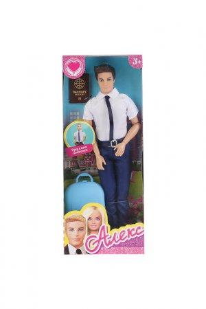 Кукла Алекс-пилот Карапуз. Цвет: синий