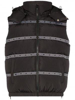 Дутый жилет с логотипом Versace