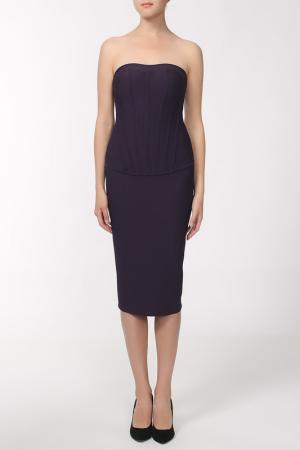 Платье Herve L.Leroux. Цвет: фиолетовый