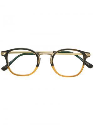 Очки с квадратной оправой Matsuda. Цвет: коричневый