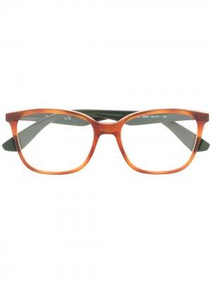Очки в оправе черепаховой расцветки Ray-Ban. Цвет: коричневый