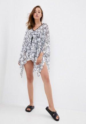 Туника пляжная Karl Lagerfeld Beachwear. Цвет: белый