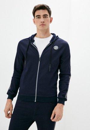 Куртка джинсовая Plein Sport. Цвет: синий
