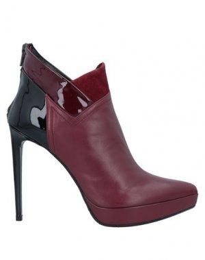 Полусапоги и высокие ботинки GIANNI MARRA. Цвет: красно-коричневый