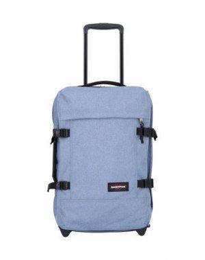 Чемодан/сумка на колесиках EASTPAK. Цвет: грифельно-синий