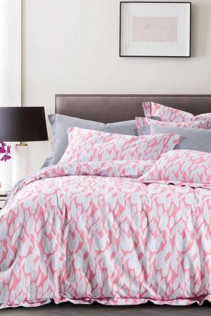 Постельное белье евро, 70х70 Jardin. Цвет: розовый, серый