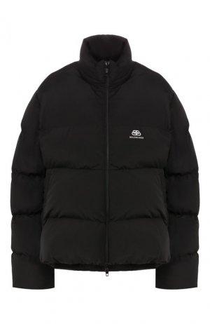 Стеганая куртка Balenciaga. Цвет: чёрный