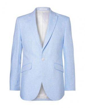 Пиджак FAVOURBROOK. Цвет: небесно-голубой