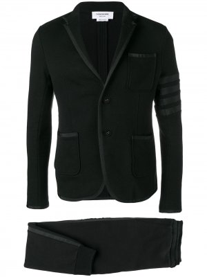 Трикотажный костюм с полосками 4-Bar Thom Browne. Цвет: черный