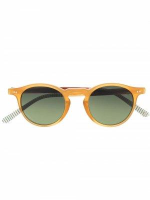 Солнцезащитные очки трапециевидной формы Etnia Barcelona. Цвет: желтый