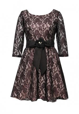 Платье David Lerner. Цвет: бордовый