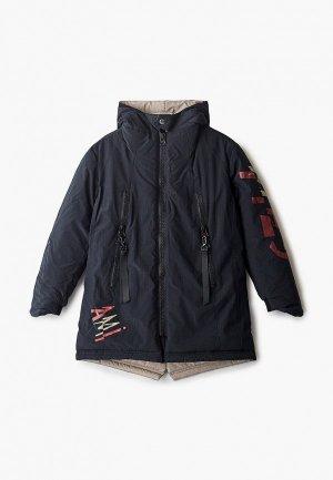 Куртка утепленная Mes ami. Цвет: синий