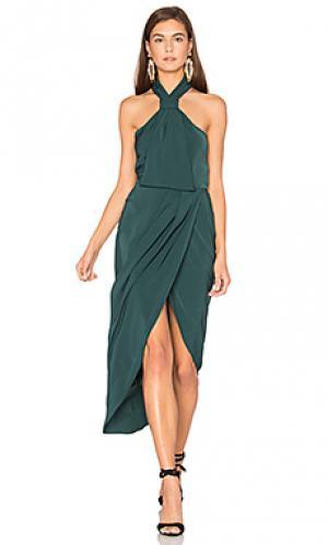 Платье с узлом на шлейках Shona Joy. Цвет: зеленый