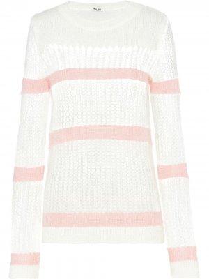 Пуловер крупной вязки Miu. Цвет: белый