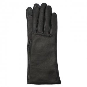 Кожаные перчатки Agnelle. Цвет: чёрный
