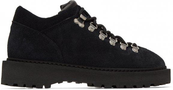 Black Suede Monfumo Low Sneakers Diemme. Цвет: black suede
