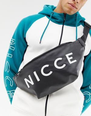 Черная сумка-кошелек на пояс с логотипом -Черный Nicce