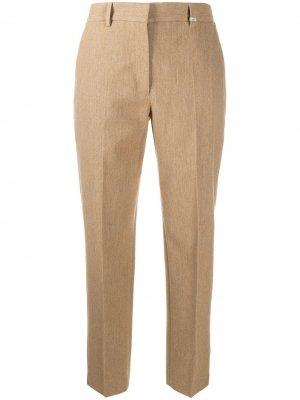 Укороченные брюки прямого кроя Calvin Klein. Цвет: коричневый