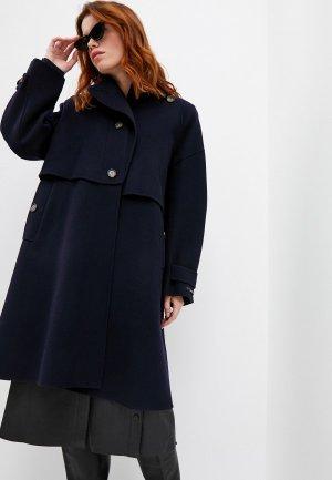 Пальто Sportmax Code ALPACA. Цвет: синий
