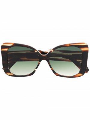 Солнцезащитные очки черепаховой расцветки GIGI STUDIOS. Цвет: черный