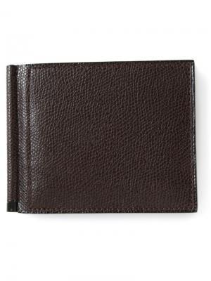 Бумажник Simple Grip Spring Valextra. Цвет: коричневый