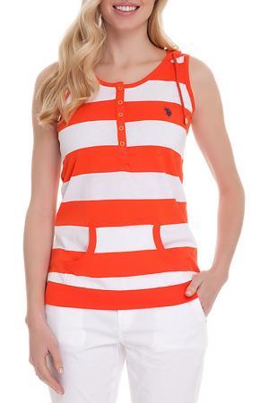 Майка U.S. Polo Assn.. Цвет: 582 оранжевый