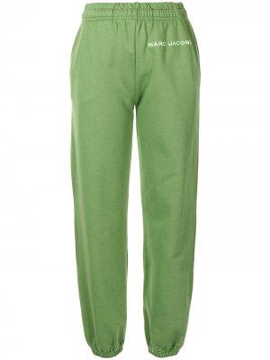 Спортивные брюки с логотипом Marc Jacobs. Цвет: зеленый