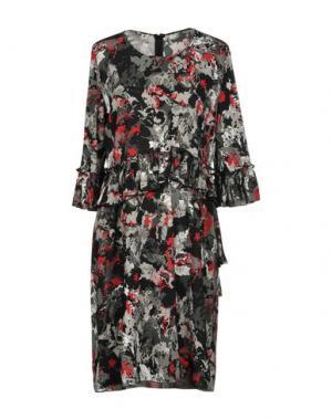 Короткое платье AQUILANO-RIMONDI. Цвет: свинцово-серый