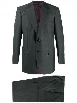 Костюм-двойка с однобортным пиджаком Brioni. Цвет: серый