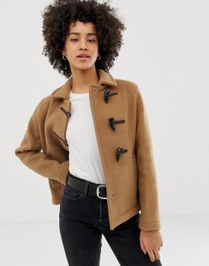 Короткое пальто с добавлением шерсти -Светло-коричневый Gloverall