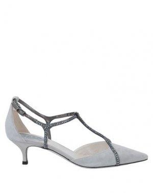 Туфли RENE' CAOVILLA. Цвет: светло-серый