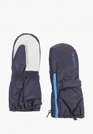Варежки Icepeak. Цвет: синий