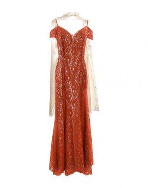 Длинное платье GLAMOUR. Цвет: ржаво-коричневый
