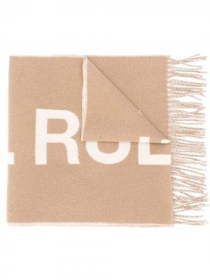Logo embroidered knit scarf A.P.C.. Цвет: нейтральные цвета