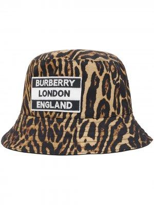 Двусторонняя панама с леопардовым принтом Burberry. Цвет: нейтральные цвета