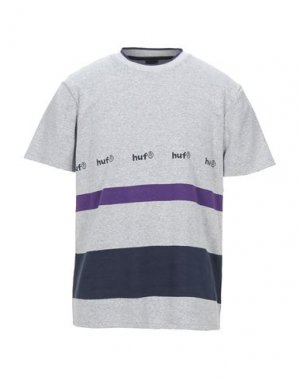 Футболка HUF. Цвет: светло-серый