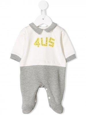 Комбинезон для новорожденного 4US Cesare Paciotti Kids. Цвет: белый