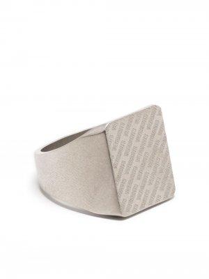 Перстень с логотипом VETEMENTS. Цвет: серебристый