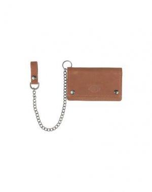 Бумажник DICKIES. Цвет: коричневый