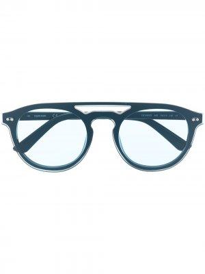 Солнцезащитные очки CK19500S Calvin Klein. Цвет: синий