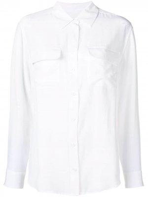 Классическая рубашка Equipment. Цвет: белый