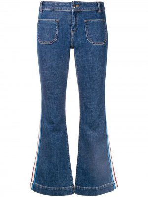 Расклешенные джинсы с лампасами Sonia Rykiel. Цвет: синий
